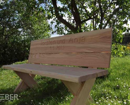 Gartenbank Massivholz Lärche
