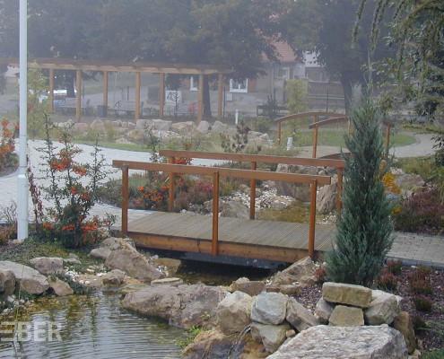 Brücken und Pergolen aus Massivholz Lärche Projekt: Zeitz