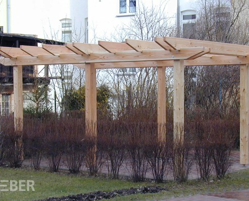 Pergola Lärche Massivholz Projekt: Zeitz