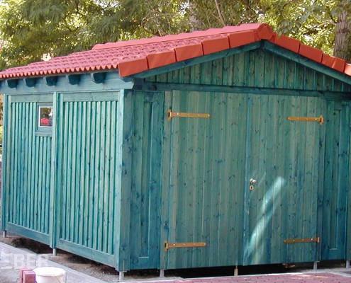 Gerätehaus, Schuppen aus Holz, inkl. Dacheindeckung Projekt: Schwedt