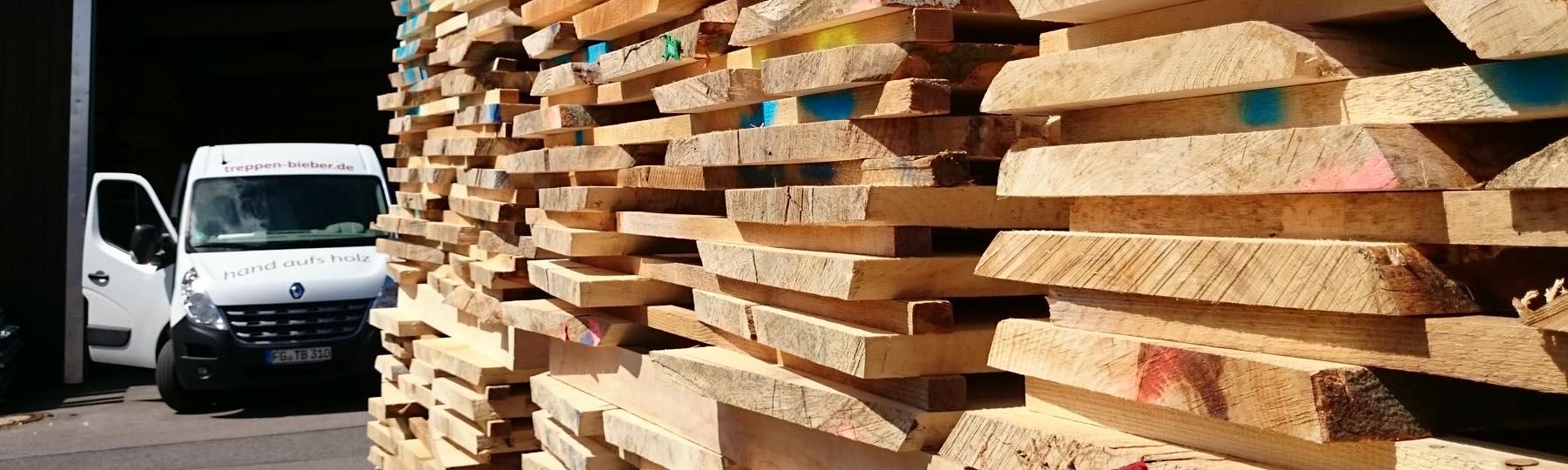 Tischlerei-Treppenbau Gunter Bieber beim einheimischen Holzhandel