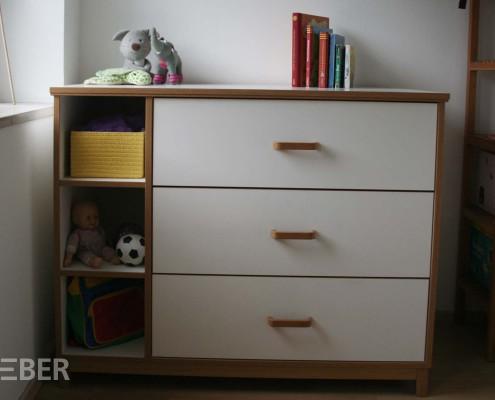 Kinderschrank mit Schubladen (Wickelkommode mit abnehmbarem Wickelaufsatz
