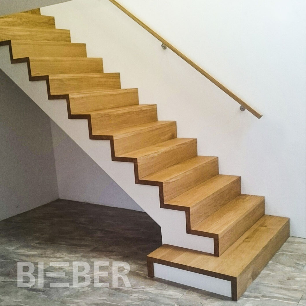 Faltwerktreppe, Stufen Eiche geölt