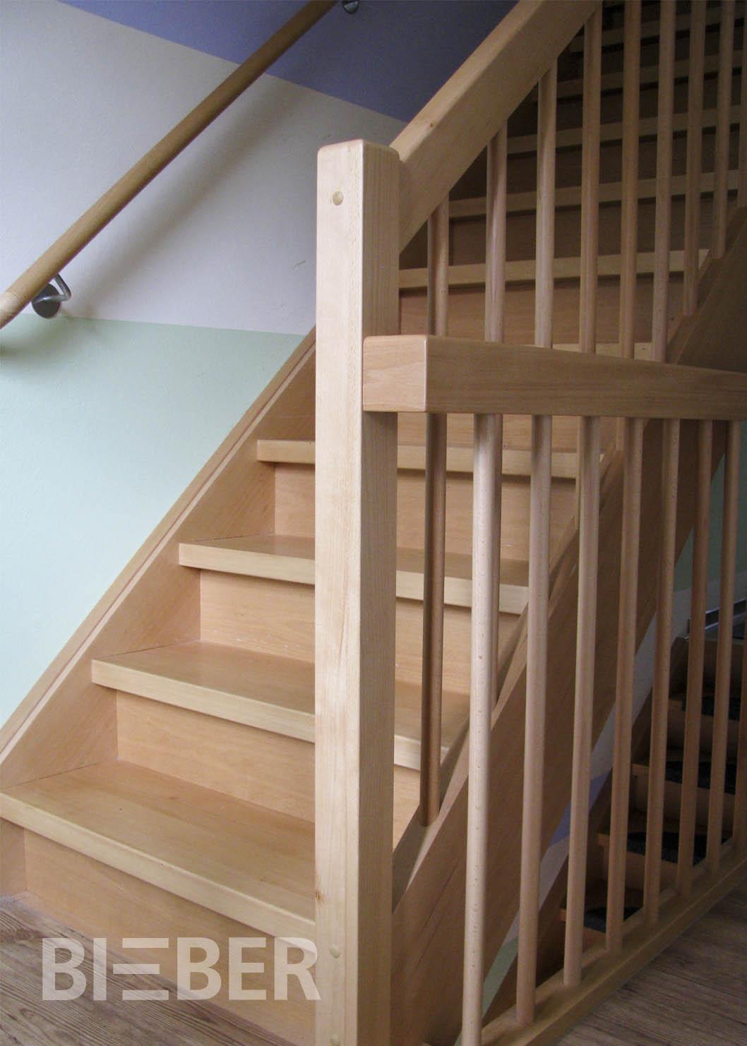gerade treppen tischlerei treppenbau gunter bieber. Black Bedroom Furniture Sets. Home Design Ideas